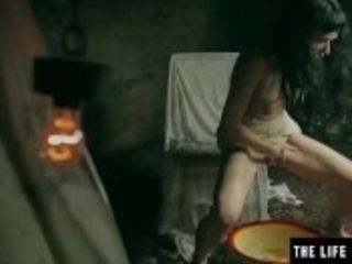 """""""Horny milf shaves and squirts to orgasm while held in a basement."""""""