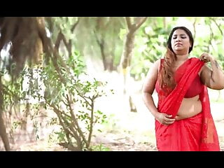 Puja in Red Color Saree