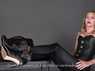 Leather Executrix - extraordinary dominance Featuring starlet 9 TRAILER