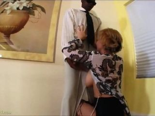 Super-fucking-hot big-titted Mature rails big black cock