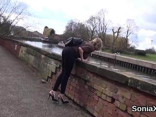 Unfaithful english cougar gill ellis flaunts her XXL orbs