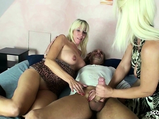 2 German Mature Like to assfuck rail fat With chisel in 3 way