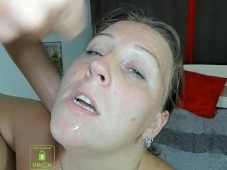 Mom deep throats a neighbor's beef whistle and gets ball butter on her face and gobbles it|6::Amateur,12::Cumshot,38::HD,46::Verified Amateurs,49