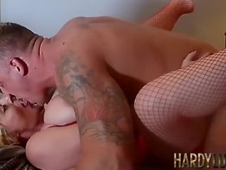Lusty granny Wendy Leigh bends over for throbbing young dick