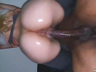 Oily pawg riding bbc