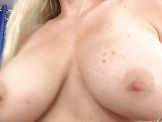 Orgasmic Machine fuck-fest with huge-titted light-haired GILF Cala covets
