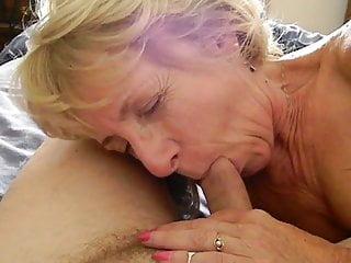 Blue Granny coarse Sucking