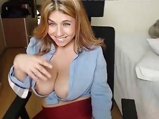 Hot Slutty Busty Webcam Babe Teasing Cocks