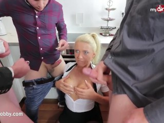 My messy pastime - assistant caught deepthroating off the intern