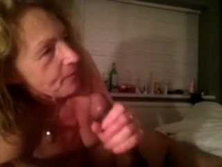 Mature wife morning blowjob and cum in mouth