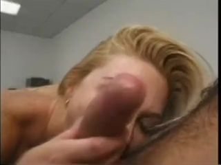 Blond cougar pulverize in a motel conference guest room