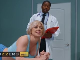 """Brazzers -Blonde milf Dee Williams gets anal checked by bbc"""