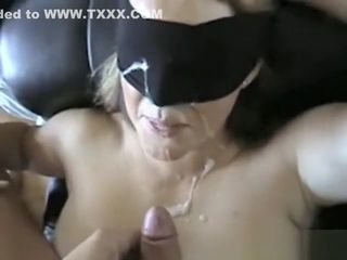 Fantastic blinded wifey gets jammed and defaced