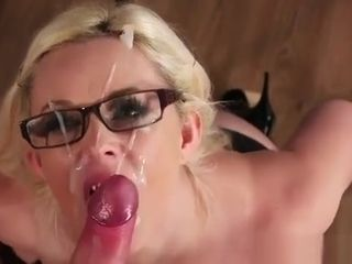 Spectacular Centerfold Gets jizm fountain On Her Face swallowing All The Ej