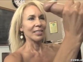 """Big cumshot for the mature teacher"""