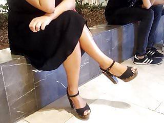 Grown-up fr pendent titillating fingertips feets overbearing heels