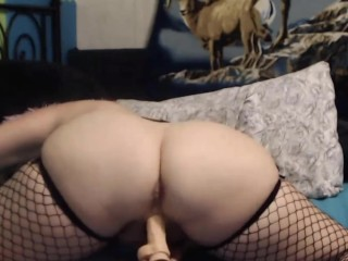 Chesty Canadian blonde cougar with bodacious kinks gets splatter