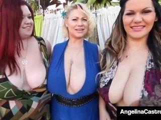 BBWs Angelina Castro, Sam 38G & Trinity Guess Milk A Big Black Cock!