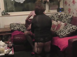hot wife rides a crossdresser as cuckhold sissy  watches