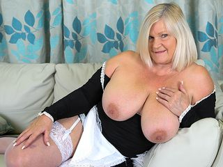 Chesty mature maid attempts out a few playthings once the work is done