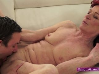 Old Nanny seduces her customer