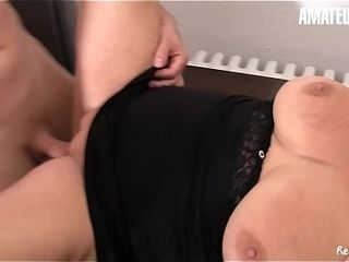 First-timer european - German big-titted grandma Erna thirsts For youthfull manmeat