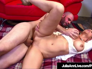 Ultra-kinky cougar educator Julia Ann fellates & bangs Her Pupil!