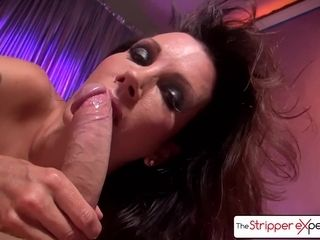 The Stripper practice - Shay glances deepthroating a monster meatpipe, ample fun bags & ample bum
